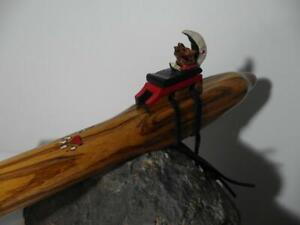 This beautiful Native American Style Flute is tuned to the Key of F  Wolf Totem