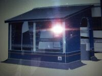 Dorema caravan porch awning With extra poles which were not supplied with the original purchase