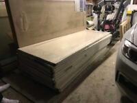 14 x Oak internal 1 Panel Shaker doors Jeld-Wen Jewsons, used for sale  Diss, Norfolk
