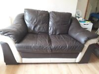 DFS 2-Seater Leather Sofa