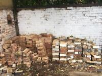Old Bricks - Estimated 500 - Various Sizes - Mostly 235mm x 120mm x 75mm Approx