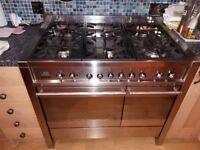 Smeg freestanding range cooker stainless steel