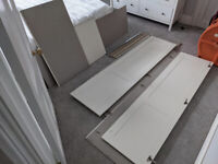 John Lewis white 2 door Wardrobe - Flatpacked, unassembled, v good cond