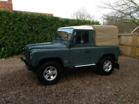 LAND ROVER DEFENDER 90 GREEN MANUAL 141000 MILES 2006