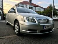 2005(55) TOYOTA AVENSIS 5DOORS HATCHBACK 1.8,MOT OCT.2018,NEW CLUTCH WITH RECEIPTS,AIRCON,HPI CLEAR