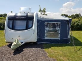 Swift Challenger 4 Berth Caravan twin single beds with full Dorema Awning Motor Mover loads extra
