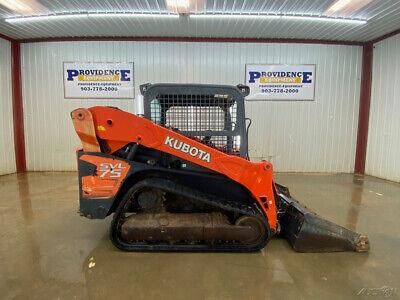 2012 Kubota Svl 75-2 Orops Skid Steer Track Loader