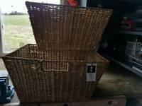 Seagrass baskets & Wicker bin