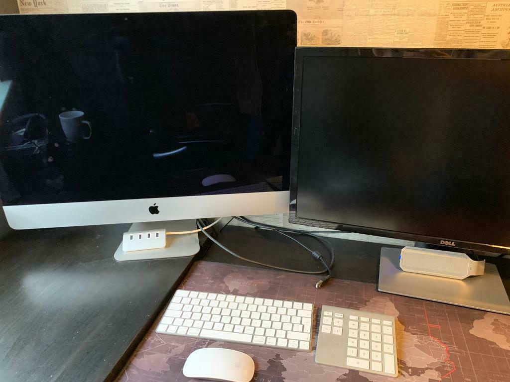 27inch iMac with 5K Retina display & 27in 4K dell monitor | in Stonehaven,  Aberdeenshire | Gumtree