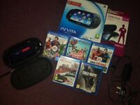 PS Vita 3G/Wi-Fi carry case and 5 games for sale.