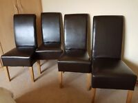 Montana chairs 4 x Leather Dining chairs, as seen on Tesco Direct web site.