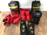 Childs Kickboxing equipment as pictured Pads headguard etc.