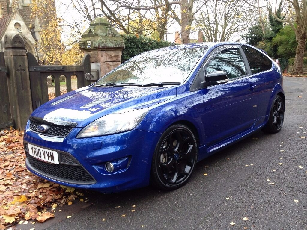 2010 ford focus st 2 225 bhp performance blue very clean tidy example 83600 miles with full. Black Bedroom Furniture Sets. Home Design Ideas
