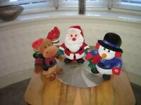 SET OF THREE DANCING / SINGING CHRISTMAS TOYS 2 OUT OF THE THREE SING AND DANCE