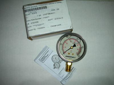 Enerpac G2514l 46c566 0 To 1000 Psi Pressure Gauge Glycerin Filled 14 Npt Nib