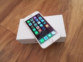 iPHONE 6 UNLOCKED GOLD 16 GB ORIGINAL BOX CHARGER ONLY £160