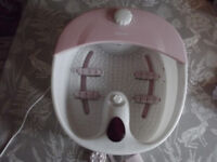 Foot Spa and Accessories...only used once! as new