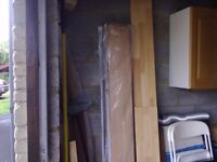 FLOORING PLANKS: job lot of tongue and groove wooden planks.