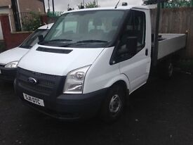 2011 FORD TRANSIT 115PS 6 SPEED T300 DROPSIDE 2 OWNERS FROM NEW FULL SERVICE HISTORY NO VAT