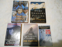 Joe Simpson Climbing Books (Set of Five)
