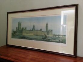 Large Print - Etching of House of Parliament London 1.1m x 0.6m
