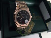 New Swiss Audemars Piguet AP Royal Oak Automatic Watch, See Through back
