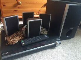 Sony DVD 5.1 home entertainment system with remote