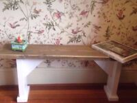 4ft Reclaimed wooden seating dining room kitchen bench
