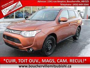 2014 Mitsubishi Outlander ES*CUIR, TOIT, MAGS, CAM. DE RECUL*