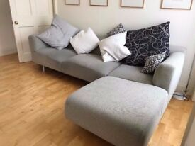 Cassina Italian Designer Corner Sofa, seats 3 or 4 people, a chaise longue section to stretch out