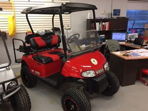 2013 E-Z-GO RXV 48V Electric RED/BLACK
