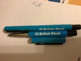 British Steel pens