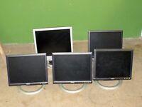 Computer Monitors x 5