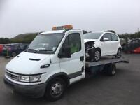 Car recovery car towing car movement