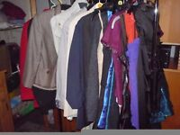 TOPS. dresses trousers and other clothes, SIZE 6- 8 ... . NEW AND USED