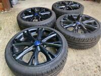 "17"" 4x108 Ford Fiesta Ecoboost Gunmetal Black Alloy Wheels With Tyres Zetec St 3"