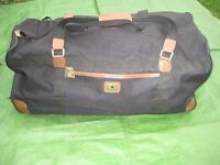 Large Black Fabric Travel Bag with Wheels