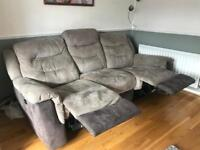 3 seat electric recliner sofa