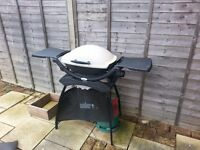 Weber Q2000 2 Burner Gas BBQ with Stand, Cover, and Propane