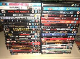 I have loads of DVDs for sale 50p each