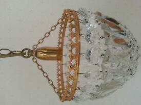 Chandelier pendant light. Total drop 22 inches, Chandelier 10 inches