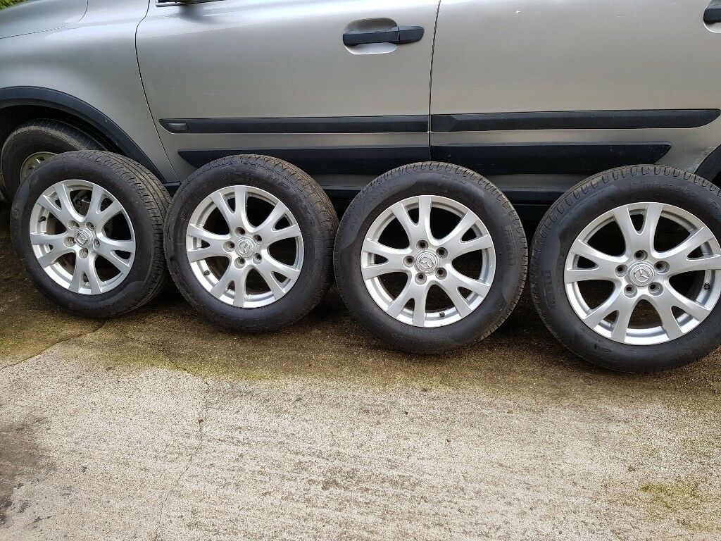 16' Mazda 6 alloy wheels with almost new tyres 205 60 R16 tires 5x114