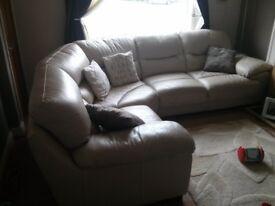 Dfs leather sofa
