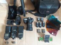 Nikon D810 plus entire camera kit, lenses, flashes, tripod