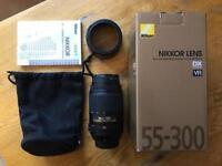 (Like New) Nikon DX VR AF-S NIKKOR 55-300mm 1:4.5-5.6ED