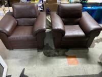 🚚🚚Leather X2 Beautiful Branded Arm chairs For Sale Free Delivery Radius Apply
