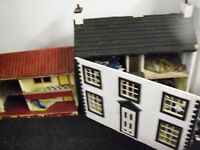 DOLL HOUSES HAND MADE TWO WITH CHARACTERS TRANSFORMERS ALOT MORE 07544038329