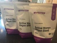 £15 Myprotein My Protein Active Woman Vegan Blend 500g ALL 3 FLAVOURS Weight Loss/Health/Fitness/Gym