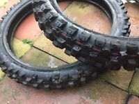 motocross tires 19 and 16 nearly new