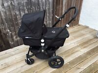 BUGABOO CAMELEON 3 PUSHCHAIR - ALL BLACK - SPECIAL EDITION - PLUS EXTRAS